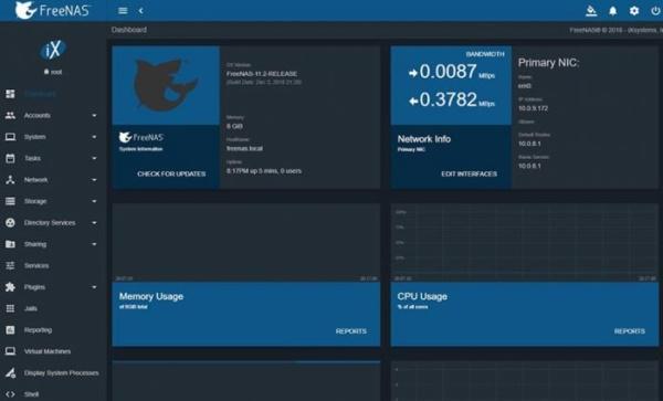 FreeNAS Release Dashboard