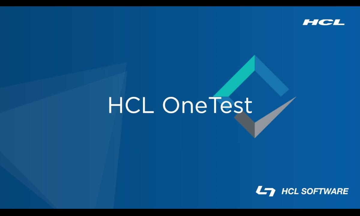 HCL OneTest